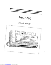 Brother FAX-1000 Manuals