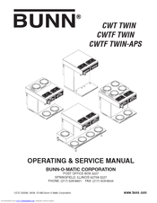 Bunn CWTF TWIN Manuals