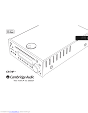 Cambridge Audio ONE+ DX1+ Manuals