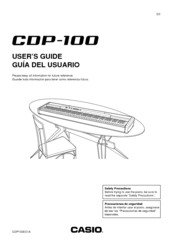 Casio CDP-100 Manuals