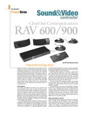 Clearone ClearOne RAV 600 Manuals