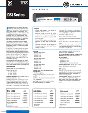 Crown DSi 1000 Manuals