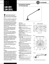 Crown LM-201 Manuals