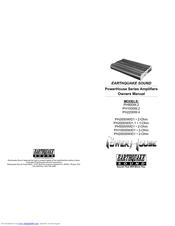 Earthquake PH20000W/D1 Manuals