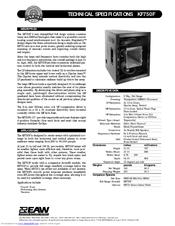 Eaw KF755 Series Manuals