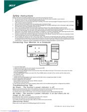 Acer S231HL Manuals