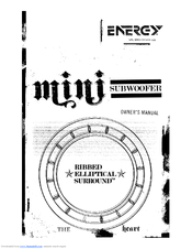 Energy ESW-M8 mini Manuals