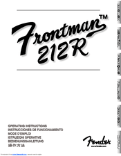 Fender Frontman 212R Manuals