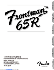 Fender Frontman 65R Manuals