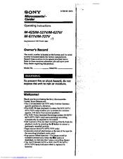 Sony M-527V Manuals
