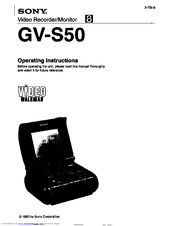 Sony Video Walkman GV-S50 Manuals