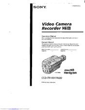 Sony Handycam CCD-TR600 Manuals