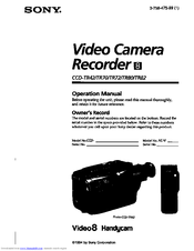 Sony Handycam CCD-TR82 Manuals