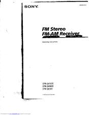 Sony STR-DE835 Manuals