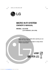 Lg LX-U150D Manuals
