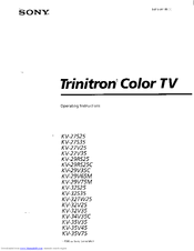 Sony Trinitron KV-32S35 Manuals