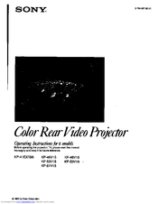 Sony KP-53V16 Manuals