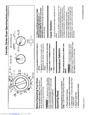 Frigidaire GLET1142CS0 Manuals