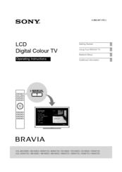 Sony Bravia KDL-46NX720 Manuals