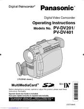 Panasonic Palmcorder PV-DV201 Manuals