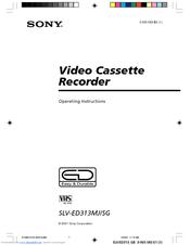 Sony SLV-ED313SG Manuals