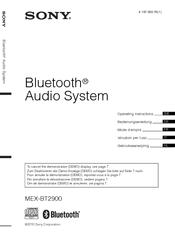 Sony MEX BT2900 Manuals