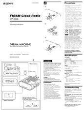Sony Dream Machine ICF-C218 Manuals