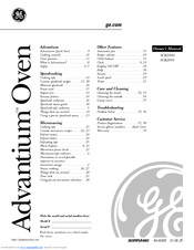 Ge Profile Advantium SCB2001KSS Manuals
