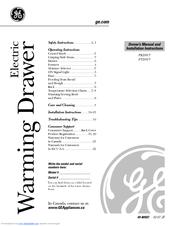 Ge Profile PTD915 Manuals