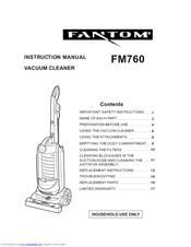 Fantom FM760 Manuals