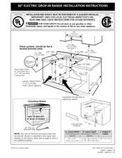 Frigidaire FFED3015LB Manuals