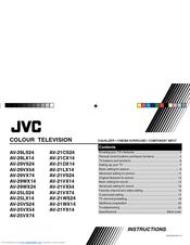 Jvc AV-21CS24 Manuals