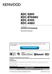 Kenwood KDC X595 Manuals