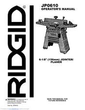 Ridgid Jointer Jp06101 Manual