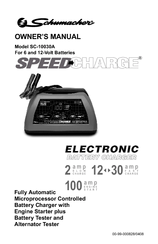 Schumacher SpeedCharge SC-10030A Manuals