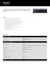 Sony CDX GT65UIW Manuals