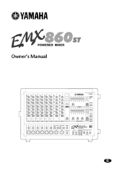 Yamaha EMX860ST Manuals