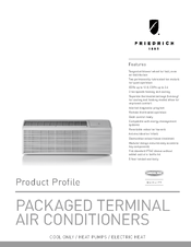 Friedrich PDH12K Series Manuals