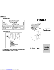 Haier LW-185G Manuals