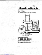 Hamilton Beach 702R Manuals