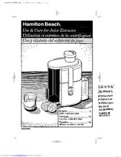 Hamilton Beach 67150 Manuals