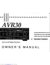 Harman Kardon AVR 30 Manuals