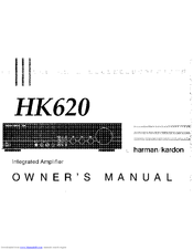 Harman Kardon HK620 Manuals