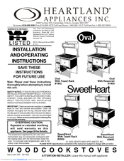 Heartland Appliances Oval 1903 Manuals