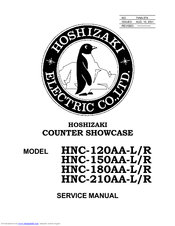 Hoshizaki HNC-180AA-L Manuals