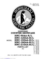 Hoshizaki HNC-120AA-L Manuals