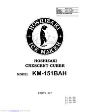 Hoshizaki KM-151BAH Manuals