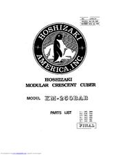 Hoshizaki KM-250BAB Manuals