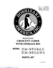Hoshizaki KM-250BAC Manuals