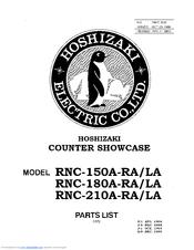 Hoshizaki RNC-180A-RA Manuals